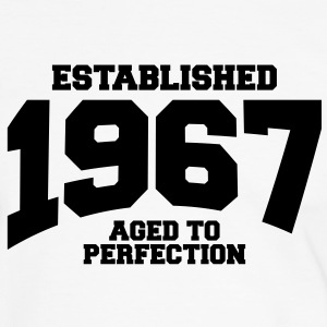 aged to perfection established 1967 (it) T-shirt - Maglietta Contrast da uomo