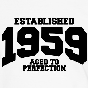 aged to perfection established 1959 (sv) T-shirts - Kontrast-T-shirt herr
