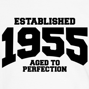aged to perfection established 1955 (sv) T-shirts - Kontrast-T-shirt herr