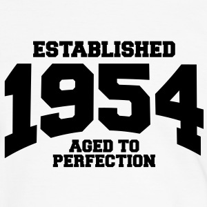 aged to perfection established 1954 (nl) T-shirts - Mannen contrastshirt