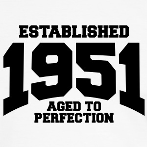 aged to perfection established 1951 (sv) T-shirts - Kontrast-T-shirt herr