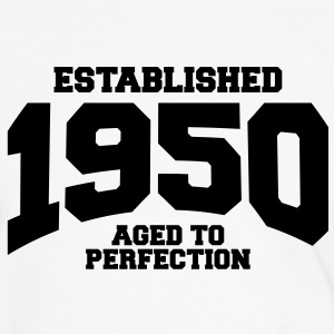 aged to perfection established 1950 (sv) T-shirts - Kontrast-T-shirt herr