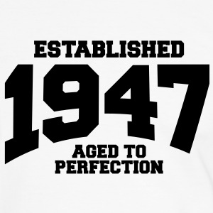 aged to perfection established 1947 (sv) T-shirts - Kontrast-T-shirt herr