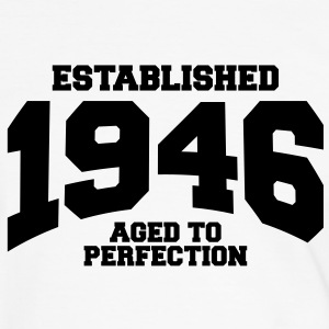 aged to perfection established 1946 (es) Camisetas - Camiseta contraste hombre