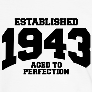 aged to perfection established 1943 (sv) T-shirts - Kontrast-T-shirt herr