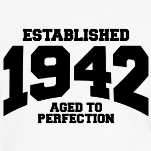 aged to perfection established 1942 (fr) Tee shirts - T-shirt contraste Homme