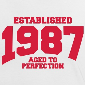 aged to perfection established 1987 (es) Camisetas - Camiseta contraste mujer