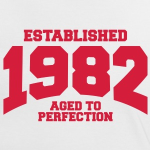 aged to perfection established 1982 (sv) T-shirts - Kontrast-T-shirt dam