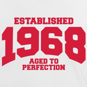 aged to perfection established 1968 (sv) T-shirts - Kontrast-T-shirt dam
