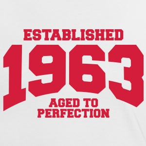 aged to perfection established 1963 (sv) T-shirts - Kontrast-T-shirt dam