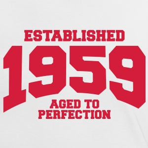 aged to perfection established 1959 (sv) T-shirts - Kontrast-T-shirt dam