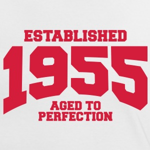 aged to perfection established 1955 (sv) T-shirts - Kontrast-T-shirt dam