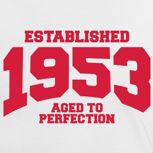aged to perfection established 1953 (sv) T-shirts - Kontrast-T-shirt dam