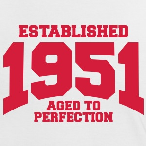 aged to perfection established 1951 (dk) T-shirts - Dame kontrast-T-shirt