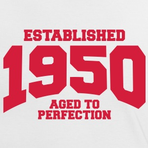 aged to perfection established 1950 (sv) T-shirts - Kontrast-T-shirt dam