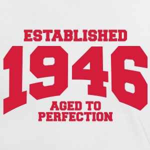 aged to perfection established 1946 (sv) T-shirts - Kontrast-T-shirt dam