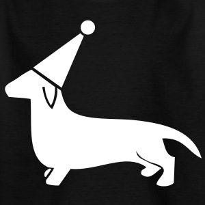 cute little dachshund dog party hat sausage puppy Shirts - Kids' T-Shirt