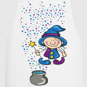 Little Witch with Hat and Wand  Aprons - Cooking Apron