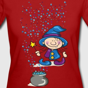 Little Witch with Hat and Wand T-Shirts - Women's Organic T-shirt