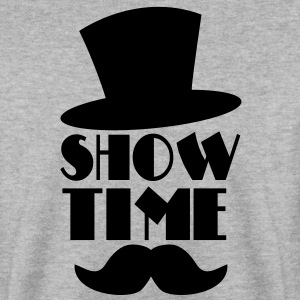 SHOW TIME clown circus hat and moustache  Hoodies & Sweatshirts - Men's Sweatshirt