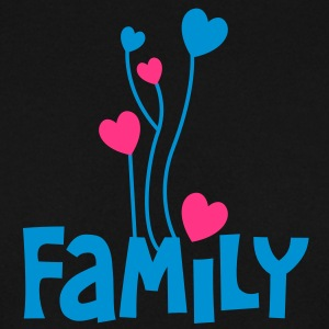 family in type with heat shaped balloons very inspiring Hoodies & Sweatshirts - Men's Sweatshirt