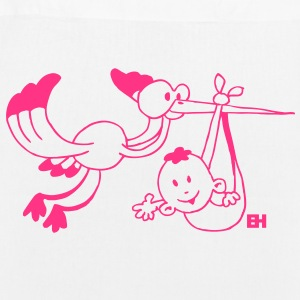 The stork brings the baby. Bags  - EarthPositive Tote Bag
