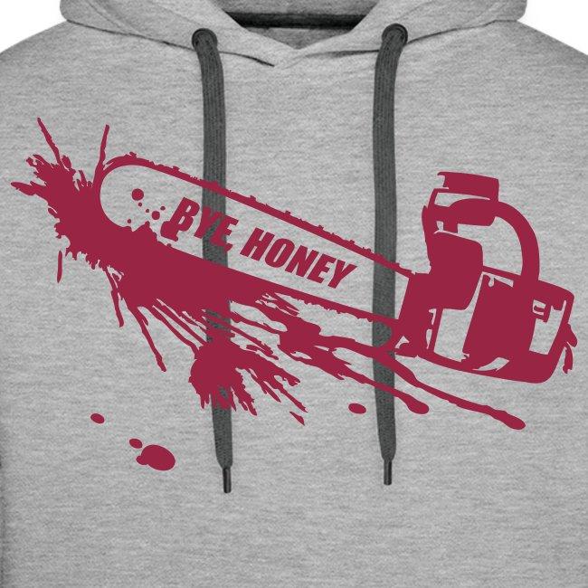 BYE, HONEY! men's hoodie grey