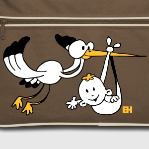 Birth. The stork brings the baby. Bags  - Retro Bag