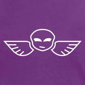 Skull with wings iI T-shirts - Dame kontrast-T-shirt
