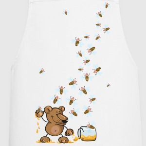The bear, the honey and many bees  Aprons - Cooking Apron