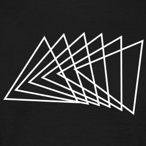 Triangle, modern design, black T-shirt, spiral - Men's T-Shirt