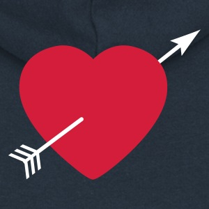 Heart round with arrow Hoodies & Sweatshirts - Women's Premium Hooded Jacket