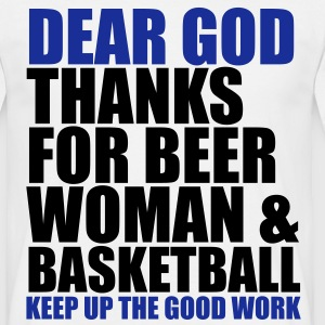 Dear God - Basketball T-Shirts - Männer T-Shirt