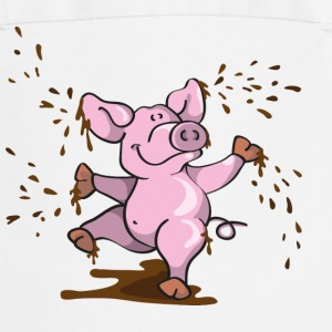 Happy pig in the mud  Aprons - Cooking Apron