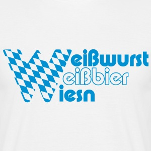 Weißbier, Weißwurst, Wiesn - Men's T-Shirt