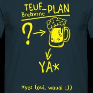 Motif ~ Tee shirt humour breton teuf plan c2b Homme