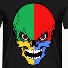 four colors skull Tee shirts