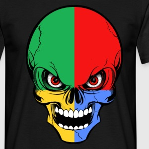 four colors skull Tee shirts - T-shirt Homme