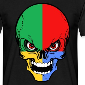 four colors skull Tee shirts - Tee shirt Homme