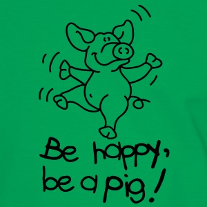 Be happy, be a pig! Tee shirts - T-shirt contraste Homme