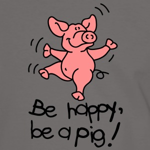 Be happy, be a pig! Camisetas - Camiseta contraste hombre