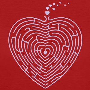 Herz Labyrint / heart labyrinth (1c) T-Shirts - Frauen Bio-T-Shirt
