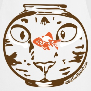 Hungry cat stare  Aprons - Cooking Apron