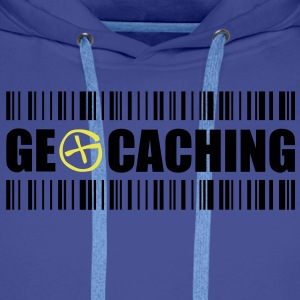 Geocaching Barcode - 2colors - 2O12 Pullover - Männer Premium Hoodie