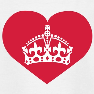 i love queen mom | crown | heart Kinder T-Shirts - Koszulka dziecięca