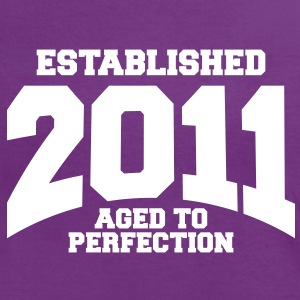 aged to perfection established 2011 (sv) T-shirts - Kontrast-T-shirt dam