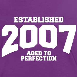 aged to perfection established 2007 (sv) T-shirts - Kontrast-T-shirt dam