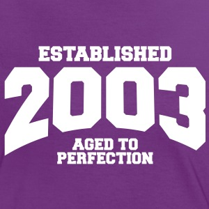aged to perfection established 2003 (sv) T-shirts - Kontrast-T-shirt dam