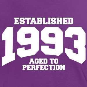 aged to perfection established 1993 (sv) T-shirts - Kontrast-T-shirt dam