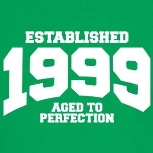 aged to perfection established 1999 (sv) T-shirts - Kontrast-T-shirt herr